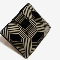 Hand Crafted Tablet Case from Black and Grey Geometric Fabric/Case for: iPadMini, Kindle Fire 7,Samsung Galaxy 7, Google Nexus,  Nook HD 7