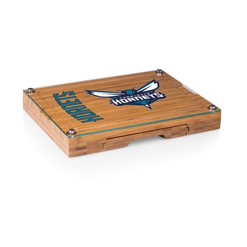 Charlotte Hornets - 'Concerto' Glass Top Cheese Board & Tools Set by Picnic Time