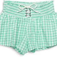 Sperry Top-Sider Gingham Shorts SeafoamGreen, Size XS  Women's