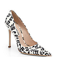Miu Miu - Music Note-Print Patent Leather Pumps - Saks Fifth Avenue Mobile