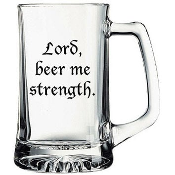 The Office beer mug Lord Beer me Strength