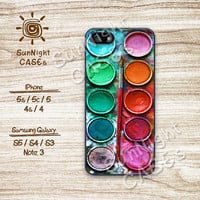 Water color,Paint Box, iPhone 5 case, iPhone 5C Case, iPhone 5S case, Phone cases, iPhone 4 Case, iPhone 4S Case, iPhone case, WP01