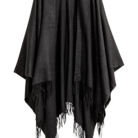 H&M Fringed Woven Poncho $14.99