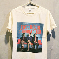 Two Door Cinema Club T-Shirt Tee Shirt Indie Rock Women T Shirts Off White TShirt Size M