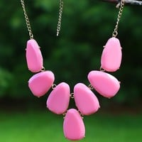 Simple Sensations Necklace in Pink