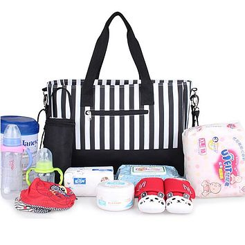 Waterproof Nylon Baby Stroller Handbag Multifunctional Baby Nappy Bags Large Capacity Mummy Diaper Bag for Mom Outdoor Travel