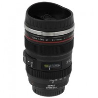 Thermo Lenscup with Stainless Steel Insulated Tumbler (Modeling 1:1 Canon EF 24-105mm f/4L IS USM Lens), 11oz