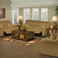 A.M.B. Furniture & Design :: Living room furniture :: Sofas and Sets :: Motion sofa sets :: Manchester Cashew Chenille Standard Motion Recliner