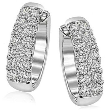 Simon G. Classic Pave Large Diamond Huggie Earrings