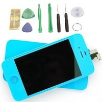 Generic Light Blue LCD Touch Screen Digitizer Glass Assembly For iPhone 4 4G