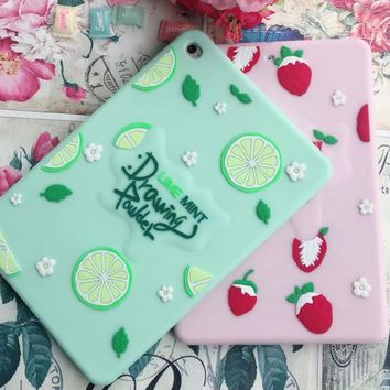 Cute animal 3D bunny candy sulley cartoon Cover For IPAD 6 Soft Silicone Case For IPAD Air 2 air2 coque funda tablet cases cat