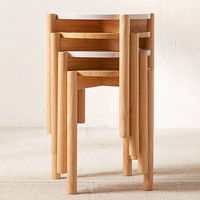 Otto Wood Stacking Stool | Urban Outfitters