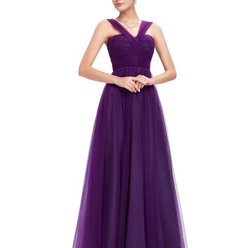 Purple Evening Dresses Long New Arrival Formal Dress Violet Wedding Evening Gowns