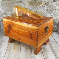Vintage Cedar Shoe Shine Box