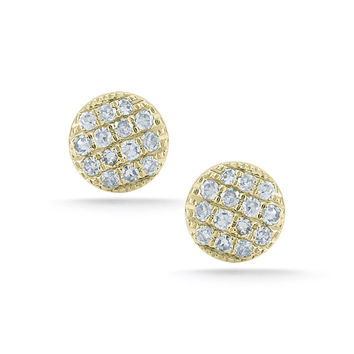 Small Yellow Gold Lauren Joy Studs