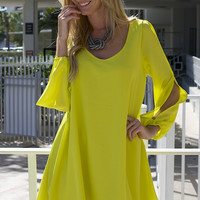 Swing Shift Dress - Lime