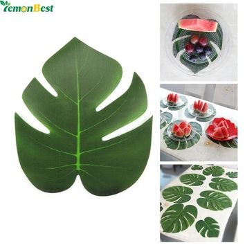 Artificial Tropical Palm Leaves For Hawaii Luau Party Decorations Beach Theme Wedding Table Decoration Accessories 35X29 20X18CM