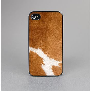 The Real Brown Cow Coat Texture Skin-Sert Case for the Apple iPhone 4-4s