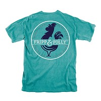 Logo Circle Tee in Seafoam by Fripp & Folly