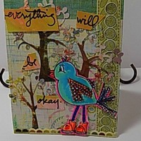 Everything Will Be Okay Handmade Motivational Card .Ready to Ship .
