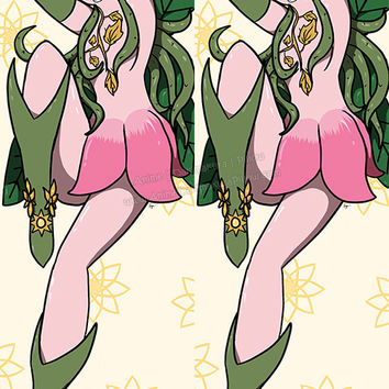 New Lillymon - Digimon Anime Dakimakura Japanese Pillow Cover Custom Designer DragonTamerSuccubus ADC367