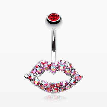 Glamour Sexy Lips Belly Button Ring