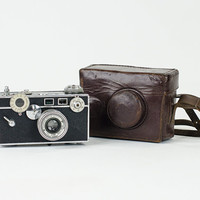 Vintage 1938 Argus C2 Camera with Leather Case