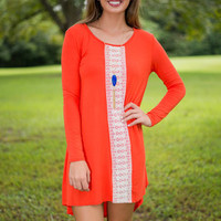 Always On Track Dress, Orange