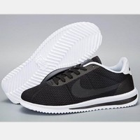 NIKE Cortez Forrest gump lovers shoes running shoes running shoes black white soles H-MDTY-SHINING