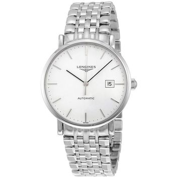Longines Elegant Automatic White Dial Mens Watch L49104126
