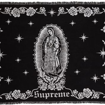 Supreme Virgin Mary Blanket in Black