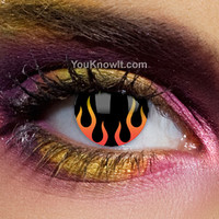 Gothic Contact Lenses | UL13 Hells Flame Contact Lenses (Pair)