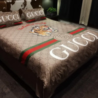GUCCI Tiger Bedroom Microfiber Duvet Cover Sets, Printing Duvet Cover Set 3pcs Bed Sets