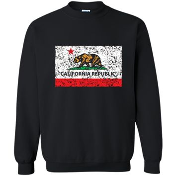 California Republic Cali Flag T-Shirt Socal Norcal Cencal T Printed Crewneck Pullover Sweatshirt