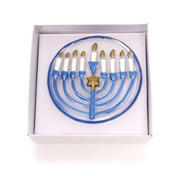 Tabletop MENORAH POP IN Glass Jewish Religious Candles 2020160306