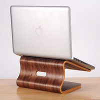 Real Wood Laptop Stand Heating Panel for Apple MacBook & Windows PC