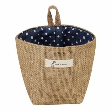 New Pattern Multi-function Handle Stackable Linen Storage Barrel Laundry Basket Toy Storage Box for 3 Types