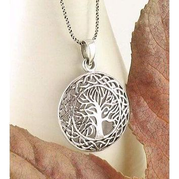 Celtic Tree of Life Medallion Necklace