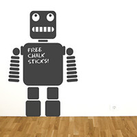 Robot Chalkboard Sticker - Spin Collective UK