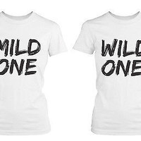 Cute Best Friend Shirts - Mild One Wild and One Best Friends Matching BFF Shirts