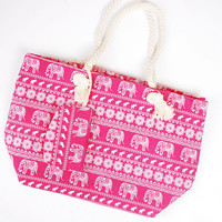 Elephant Beach Tote - Pink