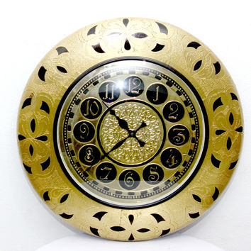 Aakashi Gold Tagari Cutting Unching Wall Clock
