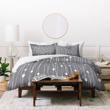 Heather Dutton Gray Entangled Duvet Cover