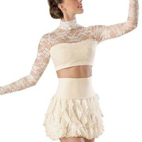 Lace Turtleneck Crop Top - Balera