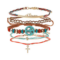 Peace Cross Bracelet Pack - Bracelets - Jewellery - Accessories - Topshop