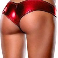 Lingerie Shiny Metallic Elastic Hot Pants Shorts
