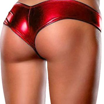 Women's Sexy Shiny Metallic High Elastic Shorts/Panties