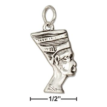 Sterling Silver Charm:  Egyptian Queen Nefertiti Charm