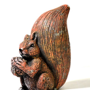 Vintage Ceramic Squirrel Figurine Lawn & Garden Outdoor Decor