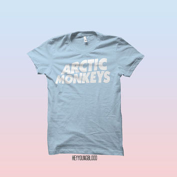 Arctic Monkeys Tshirt Baby Blue